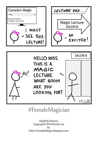 Sleightly Sketchy: #FemaleMagician