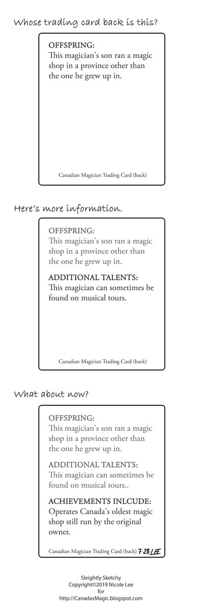 Magician trading cards [MTC190728]
