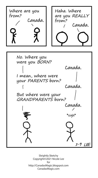 Sleightly Sketchy: Where are you from?